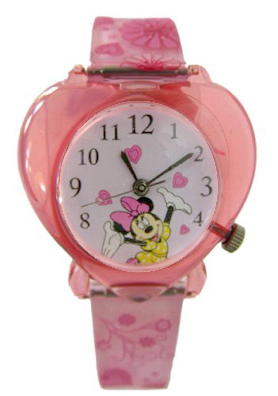 Love Shape Disney Minnie Mouse Watch w/ Pink Heart Case