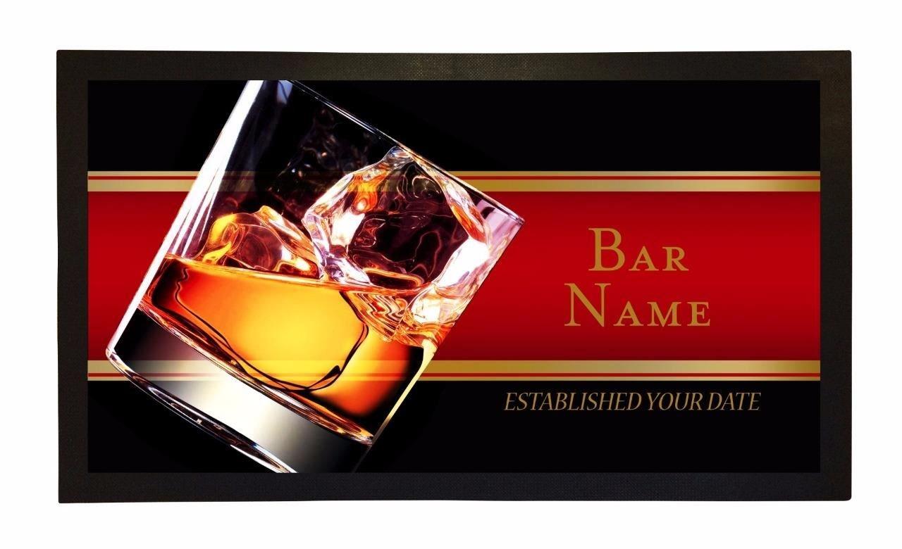 Bang Tidy Clothing Bar Runner Whisky Glass Drip Spill Mat Personalized Bar Gifts