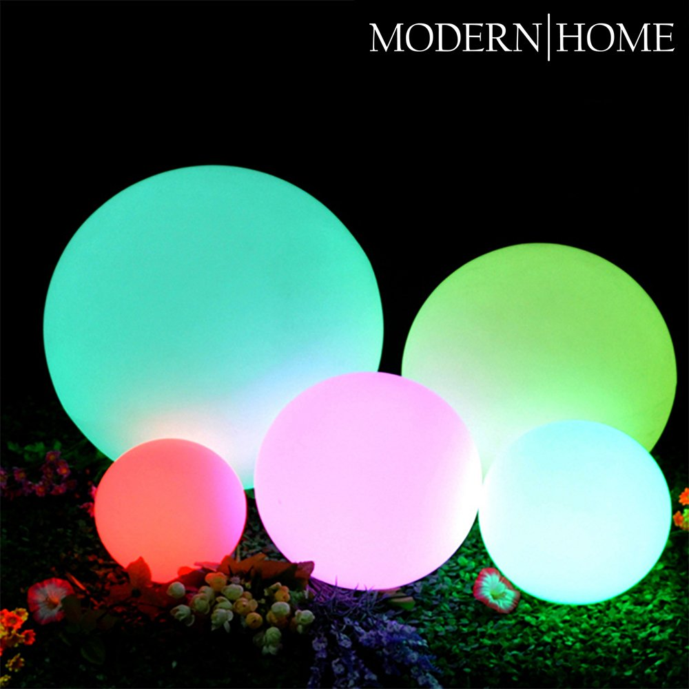 Modern Home LED Glowing Sphere w/Infrared Remote Control - 12""