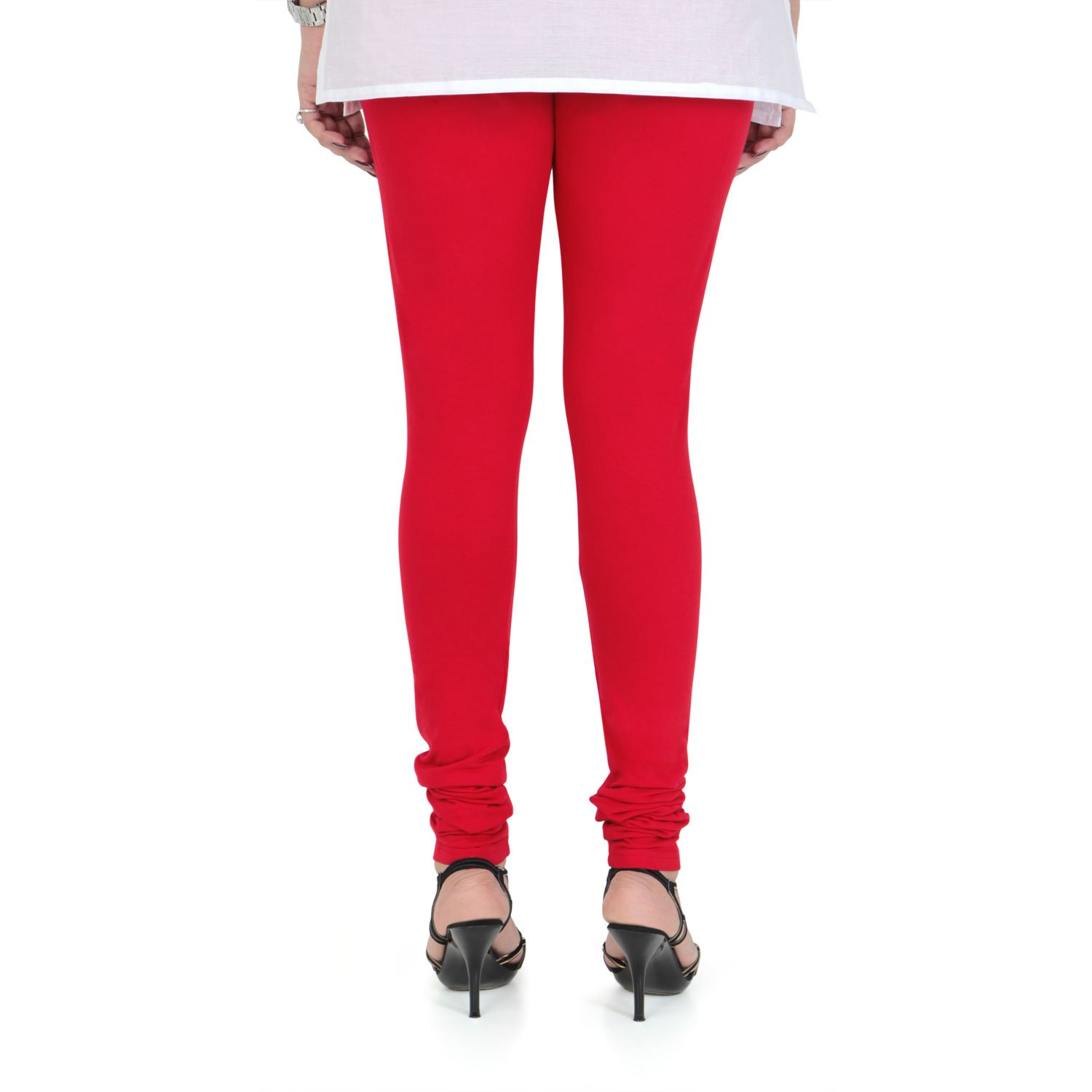 347fc665414453 Vami Cotton Churidar Leggings in Red Color _VM1001(06): Amazon.in: Clothing  & Accessories