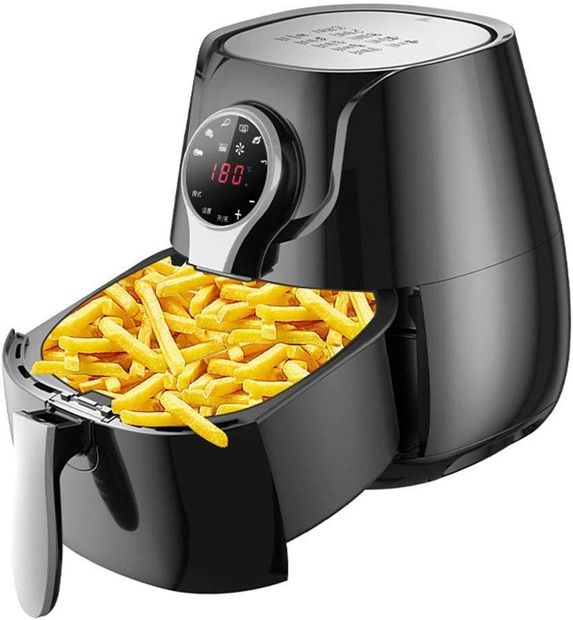 Air Fryers for Home Use Air Fryer Oven1400W Electric Air Fryer with LCD Digital Touchscreen5.5 Liters Family Sized Air Fryers Fryer Oil Free and Low Fat Cooking MZXDX