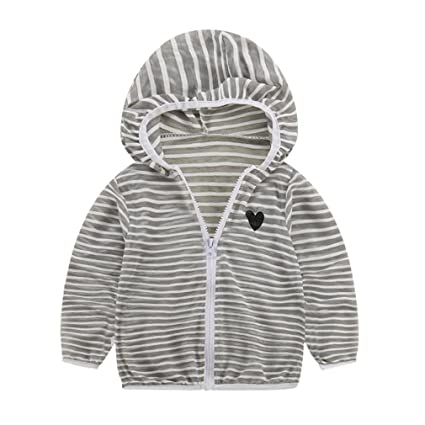 6e0e61dd7 Amazon.com  Dacawin Toddler Kids Summer Sunscreen Jackets Baby ...