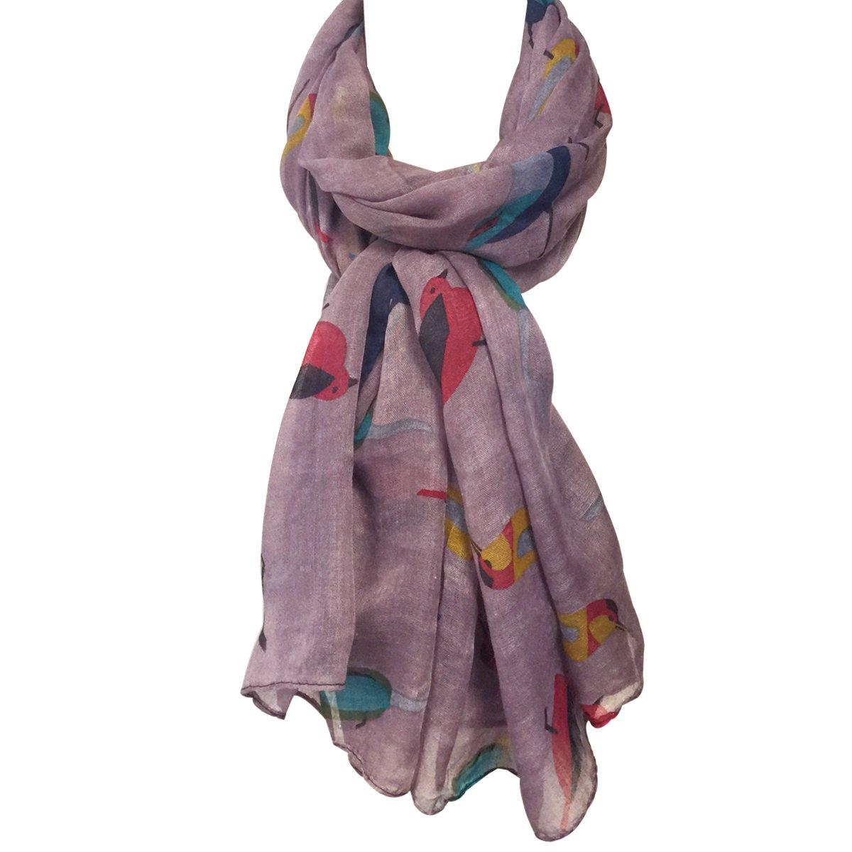 Wrapables Soft Viscose Bird Print Multi-Style Scarf Wrap Shawl Sarong