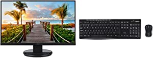 """Acer KB272HL bix 27"""" Full HD (1920 x 1080) Acer VisionCare VA Monitor with Logitech MK270 Wireless Keyboard and Mouse Combo Bundle"""