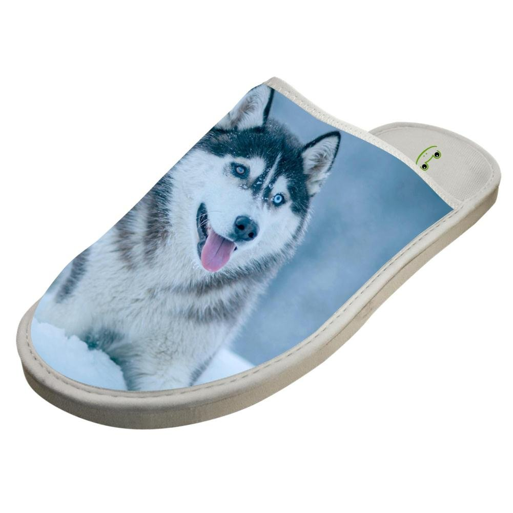 4d0d0f3c2 Amazon.com  Slippers with Cute Huskie Husky 3D Print Indoor Sandals Unisex  Shoes Flat House Flip Flops  Clothing
