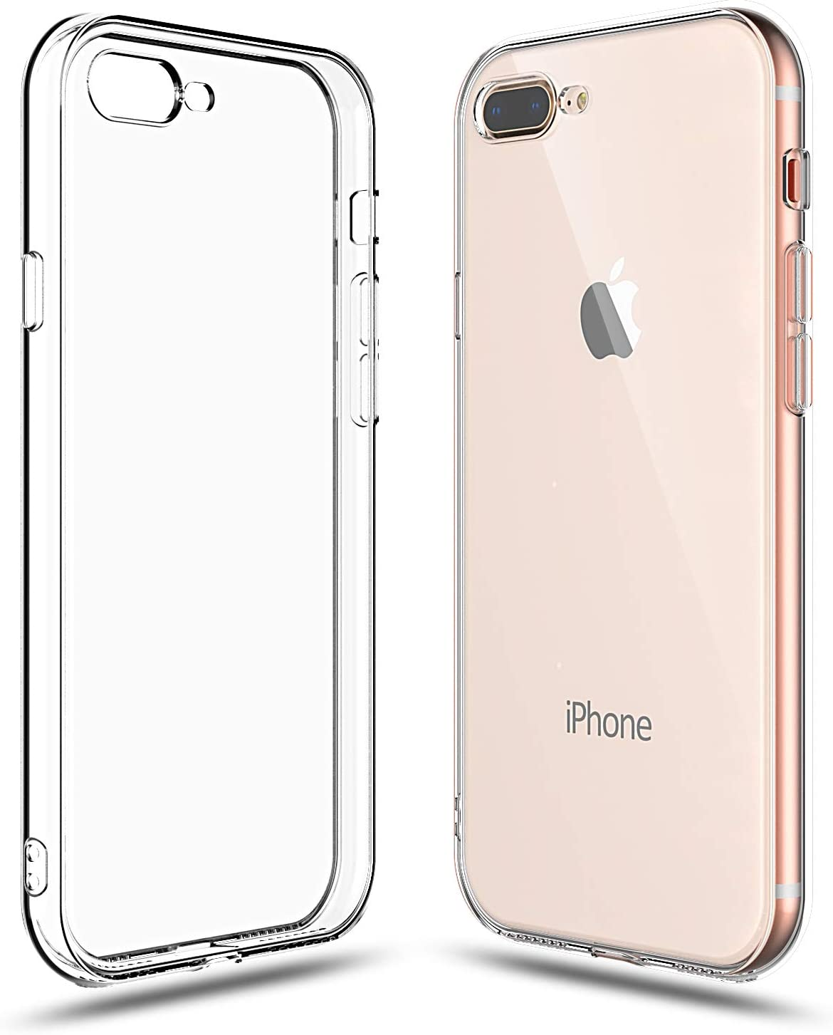 Shamo's Case for Apple iPhone 8 Plus and iPhone 7 Plus Cover, 5.5-Inch, Shock Absorption TPU Rubber Gel Transparent Anti-Scratch Clear Back, HD ...