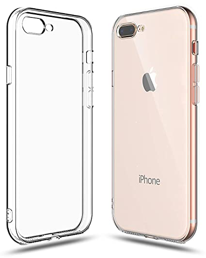 quite nice a6633 aa5aa Shamo's Case for iPhone 7 Plus and iPhone 8 Plus Shock Absorption TPU  Rubber Gel Transparent with Smudge-Free Technology, Soft Cover