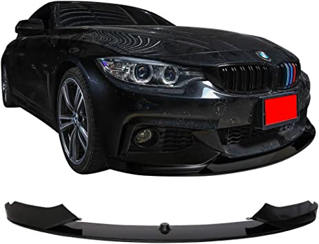 Pre-painted Front Bumper Lip Compatible With 2014-2016 BMW F32 2015 4 Series Performance Front Lip Spoiler Painted Black Sapphire Metallic #475 by IKON MOTORSPORTS