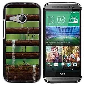 Be Good Phone Accessory // Dura Cáscara cubierta Protectora Caso Carcasa Funda de Protección para HTC ONE MINI 2 / M8 MINI // Nature Moss Tree