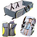 Travel Bassinet - 3 in 1 Portable Changing Station, Travel Crib, & Diaper Bag | Bonus Bed Sheet & Stroller Attachment | Perfect Travel Bassinets for Babies & Travel Accessory