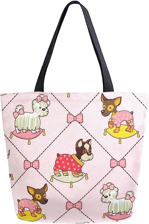 Naanle Animal bolsa de lona para perro, grande, casual, bolso de ...