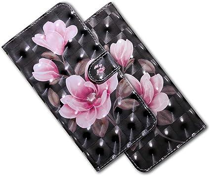 MRSTER Funda para Xiaomi Mi 9 Lite Bx 3D Pink Cherry 3D Brillos Carcasa Libro Flip Case Antigolpes Cartera PU Cuero Funda con Soporte para Xiaomi Mi 9 Lite//Mi CC9