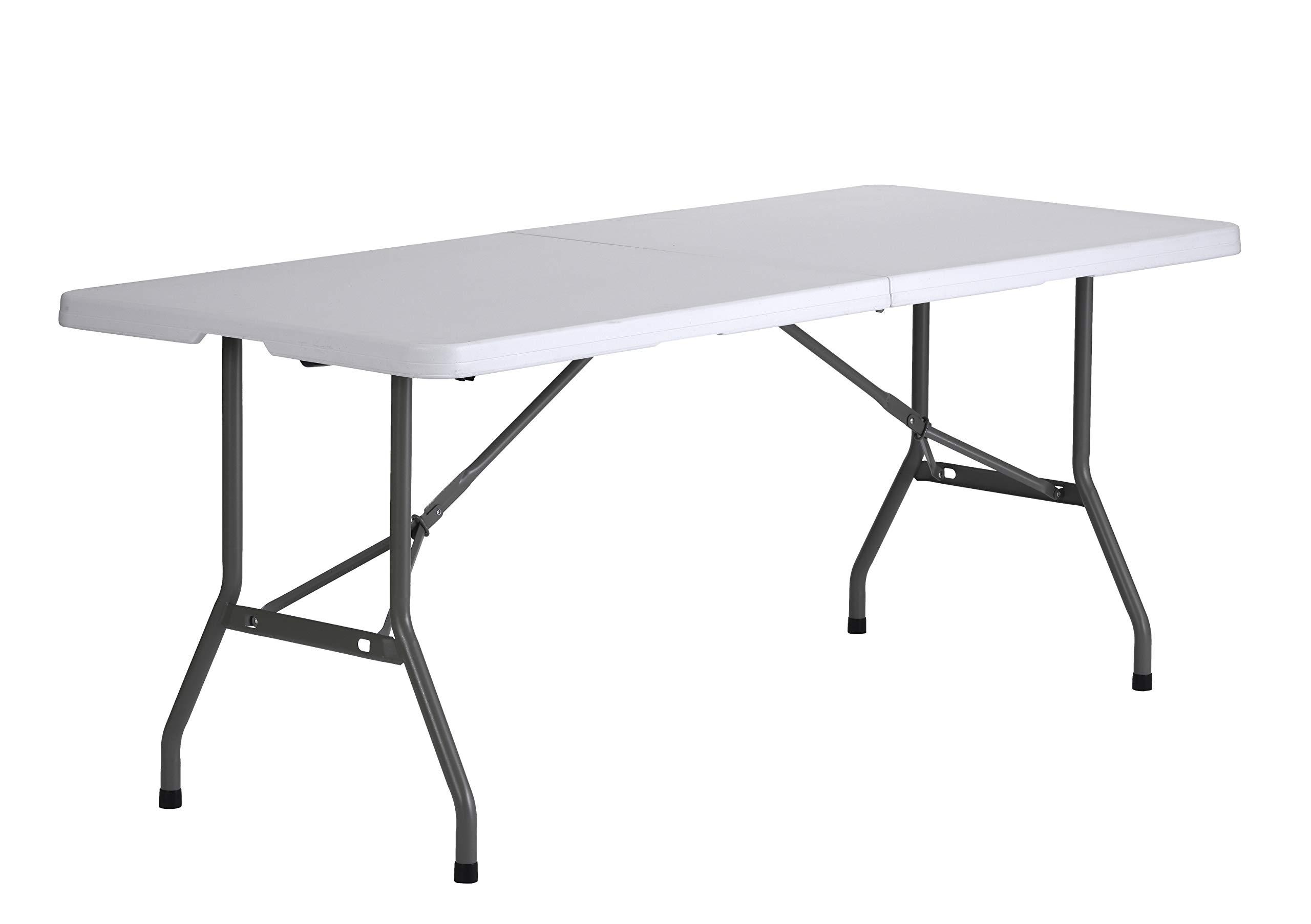 Sandusky Lee FPT7230-WV2 Commercial Fold in Half Utility Table, 6', White, 29'' Height, 72'' Width, 30'' Length by Sandusky (Image #2)