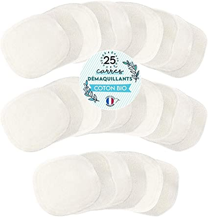 MODULIT 25 Discos Desmaquillantes Lavables y Reutilizables en algodón orgánico: Amazon.es: Belleza