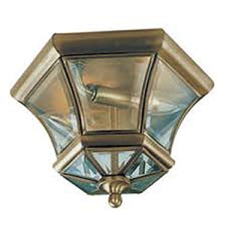 Amazon.com: livex iluminación 7052 – 03 Flush Mount con ...