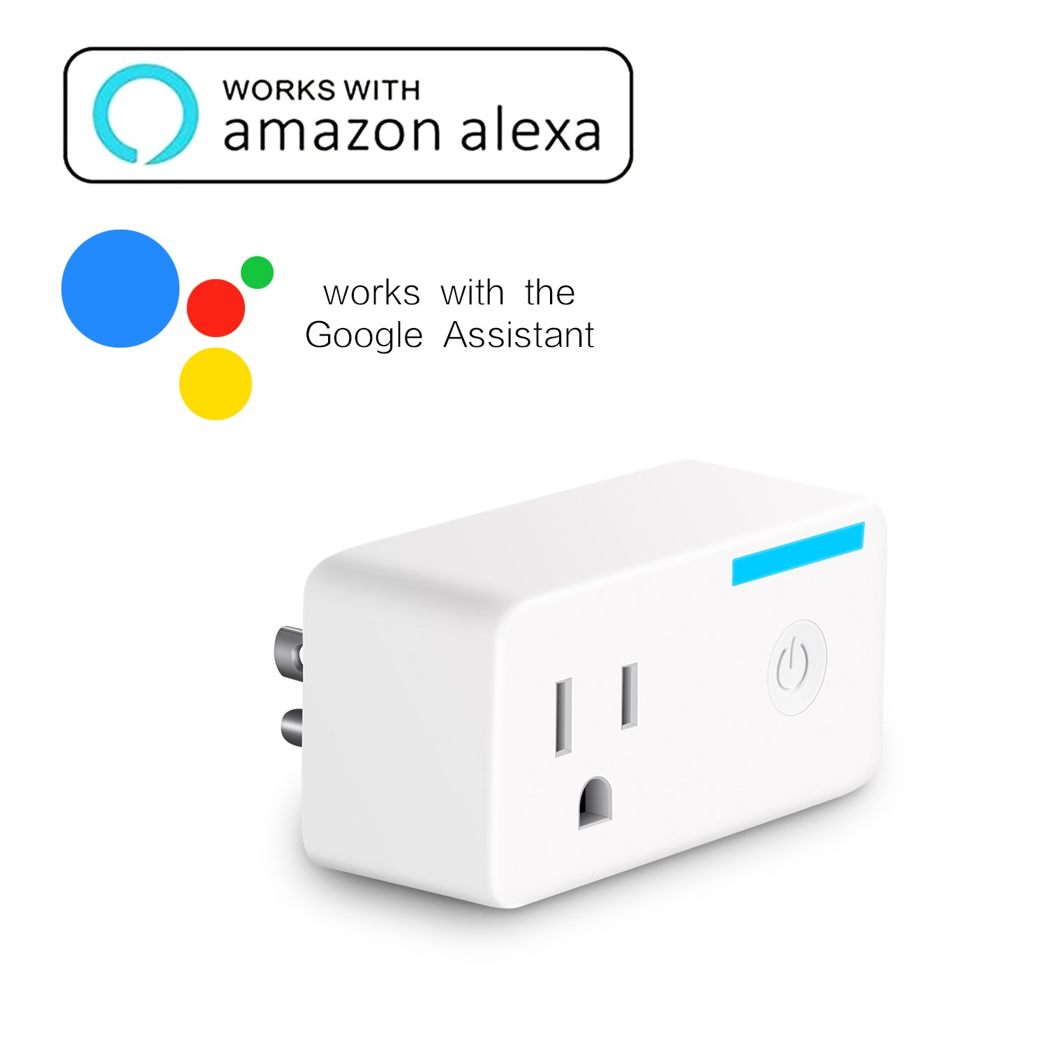 Darkeep Smart Plug Mini Outlet Alexa Google Home Compatible App Control US Plugs Wifi Timing Compact Size Homekit Socket No Hub by Darkeep