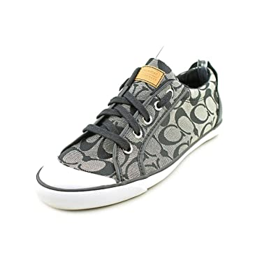 49557ce135d6 COACH Barrett Signature Jacquard Leather Fashion Sneaker Womens Shoes
