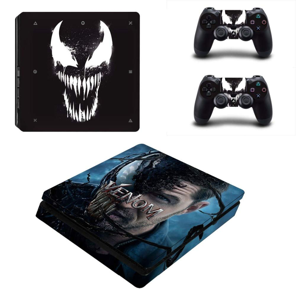 YSP4S-2713 YISHO PS4 Slim Skin Sticker Vinyl for Playstation 4 Console and 2 Controllers PS4 Slim Skin Stickers Decal