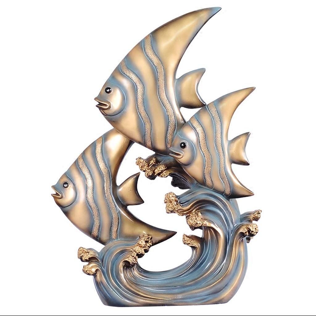 YJLGRYF B07PLTMD6W クリエイティブ樹脂熱帯魚デスクトップ装飾ギフト工芸品リビングルームポーチ装飾ジュエリーブルー28×10.5×40センチ YJLGRYF B07PLTMD6W, 特価商品 :92a5ecb1 --- ijpba.info
