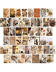50 stks Esthetische Foto Muur Collage Kit 4x6 inch Beige Muur Art Prints voor Meisjes Kamer VSCO Posters Dorm Foto Display,10x15cm Kamer Decor (Warme Kleur)