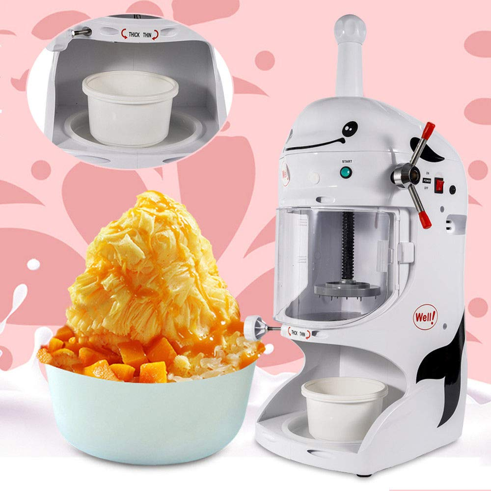 Shaved Ice Machines, 18KG 110V Commercial Snow Ice Block Shaving Machine Ice Crusher Shaved Ice Machine Snow Cone Machine Electric Shaved Ice Machine Snow Cone Shaver Ice 760 * 490 * 380mm, US STOCK by Feiuruhf (Image #6)