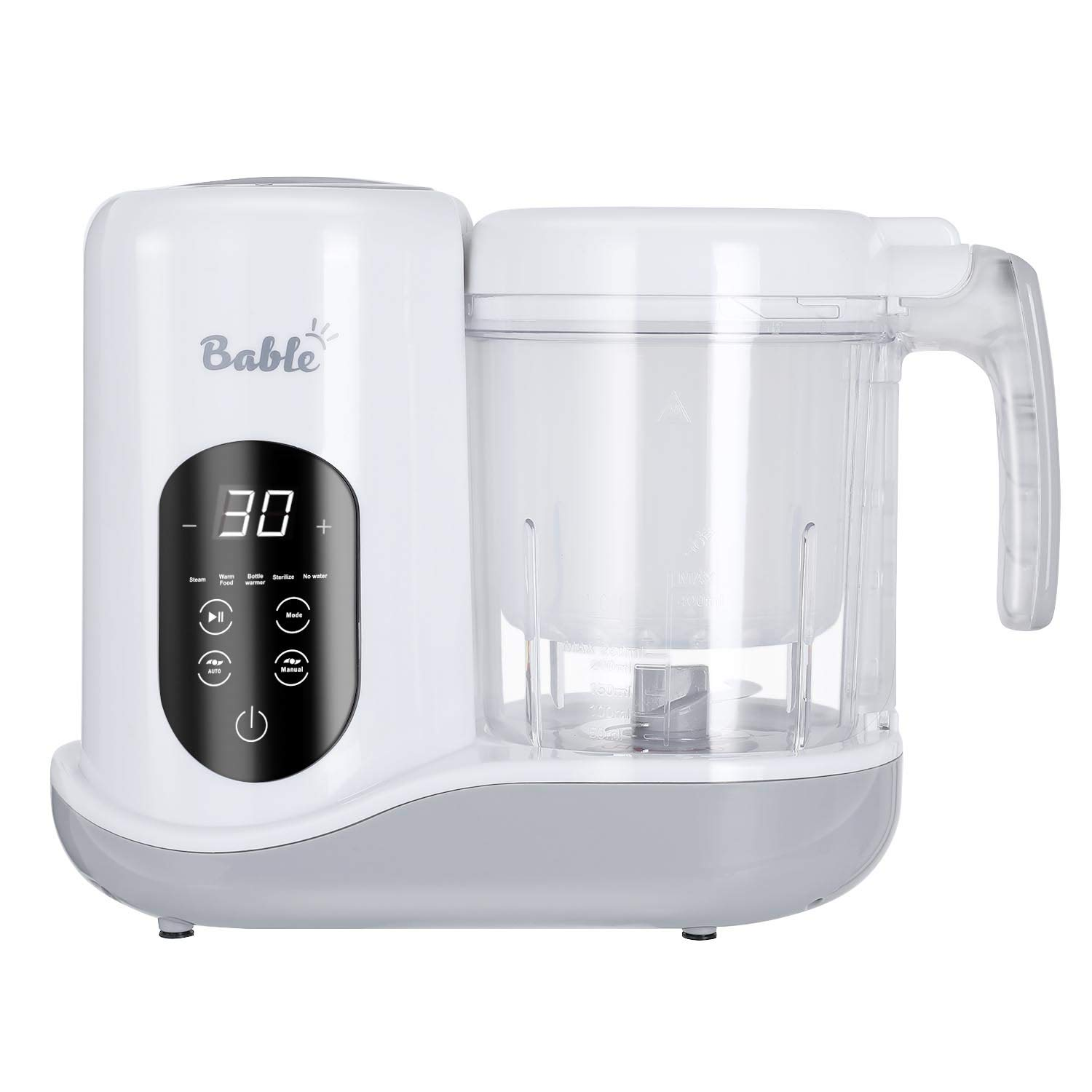 Bable 6 in 1 Baby Food Maker for Toddlers - Multifunctional Food Processor with Steam, Blend, Chop, Sterilize, Warm Milk, Warm Food, Touch Control Panel, Auto Shut-Off