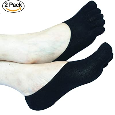 2 Packs Foot Alignment Socks Massage Toe Separator Low Cut Ankle For Women Girls US Size 4-7