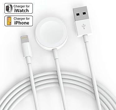 SIXNWELL Apple Watch Cargador, Cargador inalámbrico 2 en 1