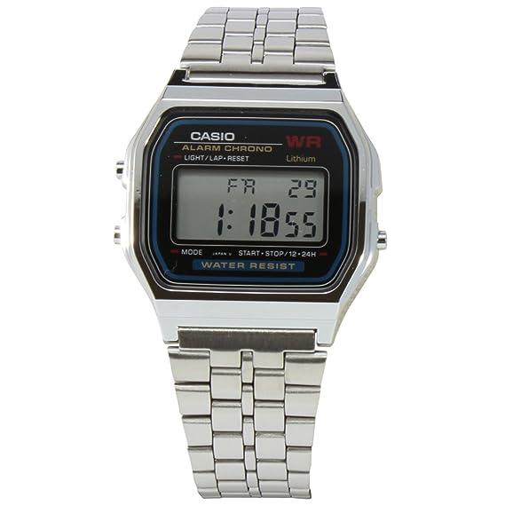85ca23c59b7 Relógio Feminino Digital Casio Vintage A159WA-N1DF - Prata  Amazon.com.br   Amazon Moda