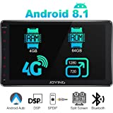 JOYING 10.1 Double Din Android 8.1 4GB + 64GB Car Stereo Built-in DSP LCD Touchscreen with 4G SIM Card Slot & 1280×720P Reslution - Supprot Android Auto DSP SPDIF Fast Boot WiFi