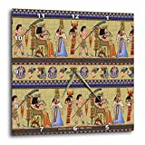 Lee Hiller Designs General Themes – Egyptian Hieroglyphics – 10×10 Wall Clock (dpp_4937_1) For Sale
