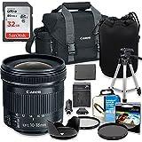 Professional Accessory Kit with Canon EF-S 10-18mm f/4.5-5.6 IS STM Lens & Canon 300-DG Shoulder Bag + SanDisk 32GB Class 10 Memory + Bundle Package for Canon EOS T6, T5, T3, 1300D, 1200D, 1100D DSLRs