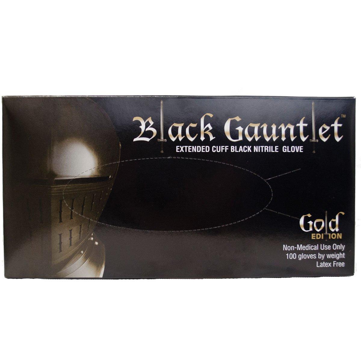 ShuBee Black Gauntlet Gold Edition Black Nitrile Glove XX Large