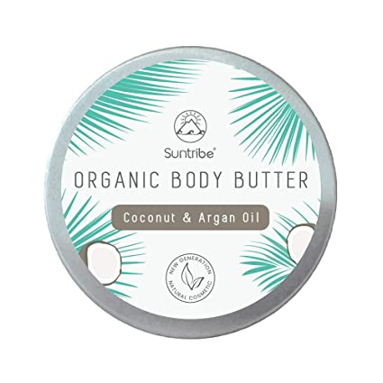 Suntribe Crema Corporal Natural COCO & ACEITE DE ARGAN – 100% Orgánica – 3 Ingredientes