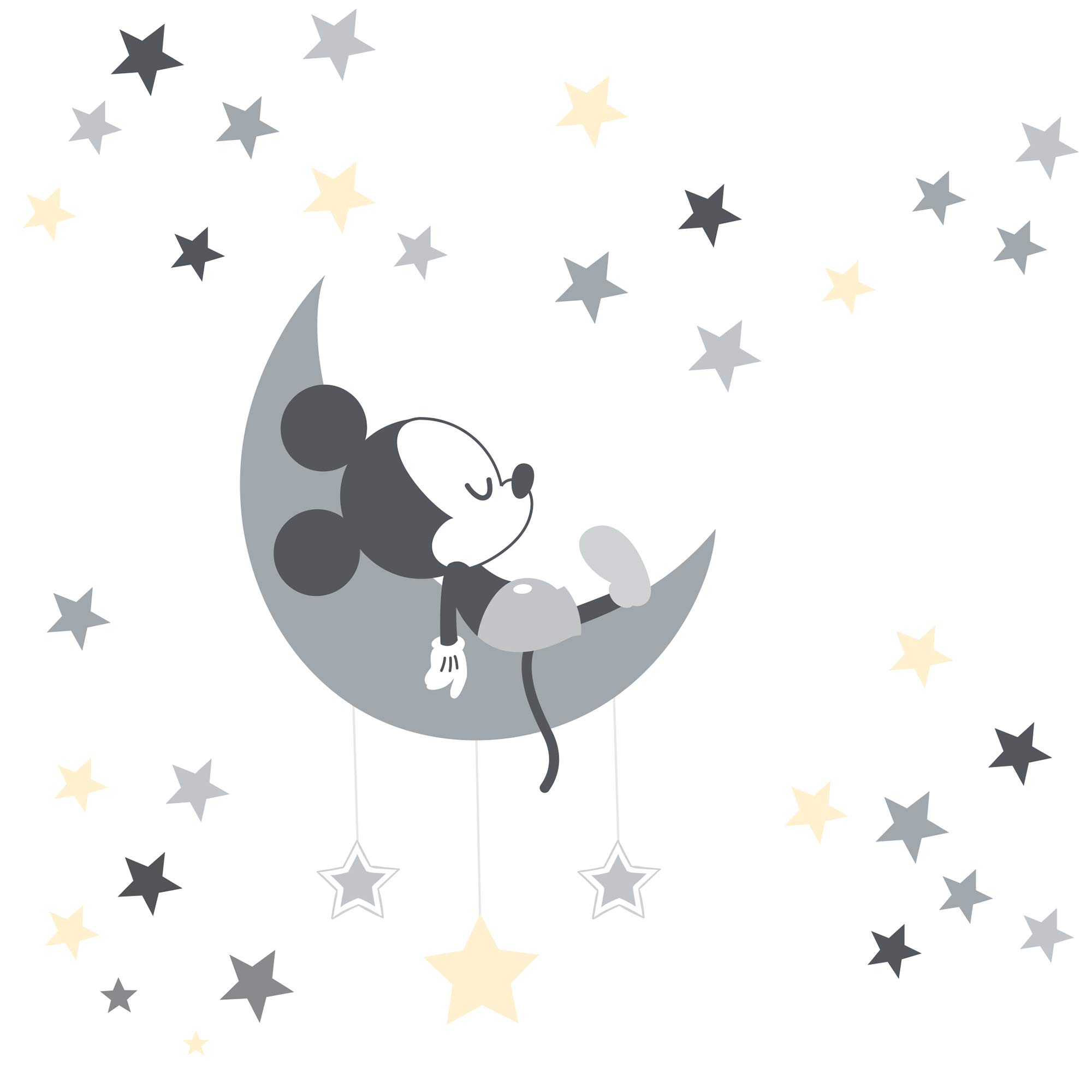 Lambs & Ivy Mickey Mouse Wall Decals, Gray