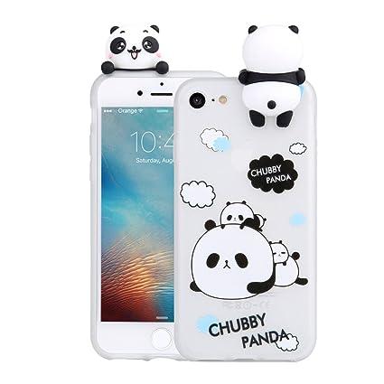 on sale ba19b 5ef9a 3D Cartoon Panda Case for iPhone 6 Plus 6S Plus Case LAPOPNUT Soft Back  Cover Candy Colour Cute Girly Bear Design Ultra Slim Flexible Protective  Case ...