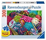 Ravensburger Knitting Notions Large Format 300 Piece Jigsaw Puzzle for Adults – Every Piece is Unique, Softclick Technology Means Pieces Fit Together Perfectly