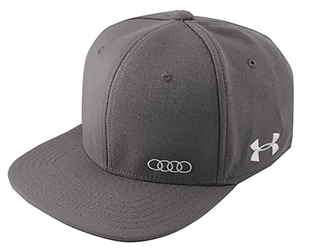 Audi ACM4488 Under Armour Flat Bill Cap Medium Large Black  Amazon.ca   Clothing   Accessories 6f07cc4280bb