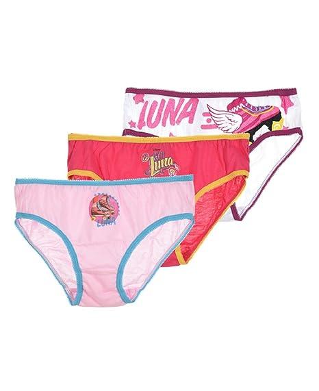 3 braguitas para niña disney soy luna ropa interior calzoncillos Talla de 6 a 8 años: Amazon.es: Ropa y accesorios