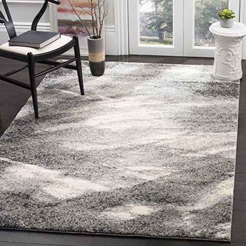 Safavieh Retro Collection RET2891-8012 Modern Abstract Grey and Ivory Square Area Rug (6' Square)