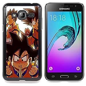 SKCASE Center / Funda Carcasa protectora - Lindo Dragon Ball dibujos animados;;;;;;;; - Samsung Galaxy J3 GSM-J300