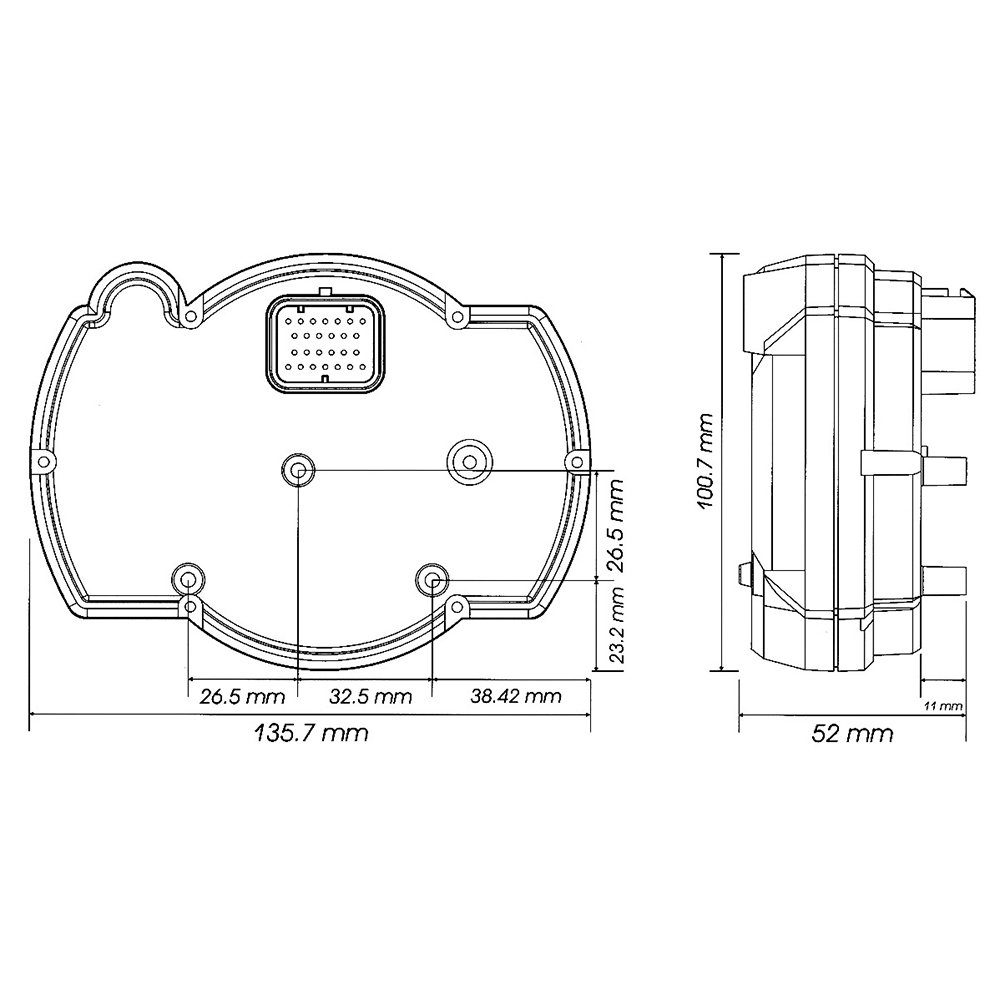 Koso Ba015b15 Rx 2n Gp Style Multifunction Meter 10 000 Yamaha Gauge Wiring Diagram Rpm Or 20 Automotive