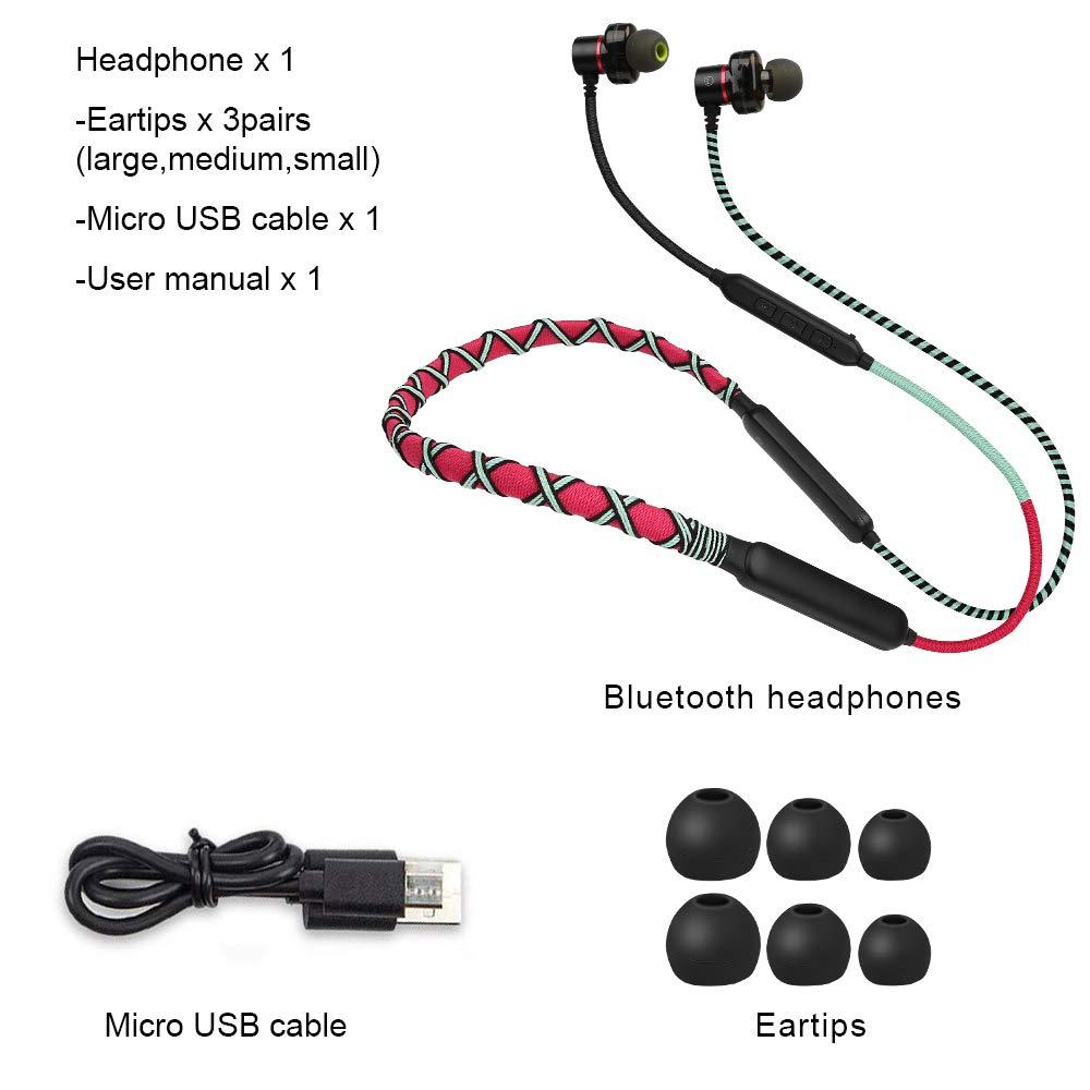 Auricolari Bluetooth URIZONS Auricolare wireless con microfono Cuffie con archetto magnetico Suono stereo HiFi Cancellazione del rumore 18 ore di gioco