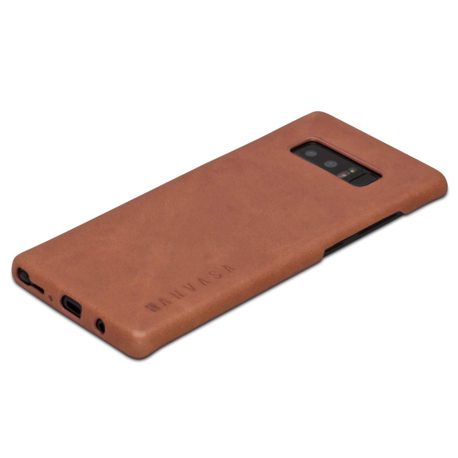 """Galaxy Note 8 Leather Case Back Cover Brown   Kanvasa """"One"""" Back Case For Samsung Galaxy Note 8 (6.3"""")   Luxury Pouch Made From Real Genuine Leather   Optimal Protection & Premium Leather   Ultra Thin by Kanvasa"""
