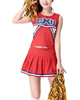 Colorful House Womens Cheerleader Costume Uniform Fancy Dress