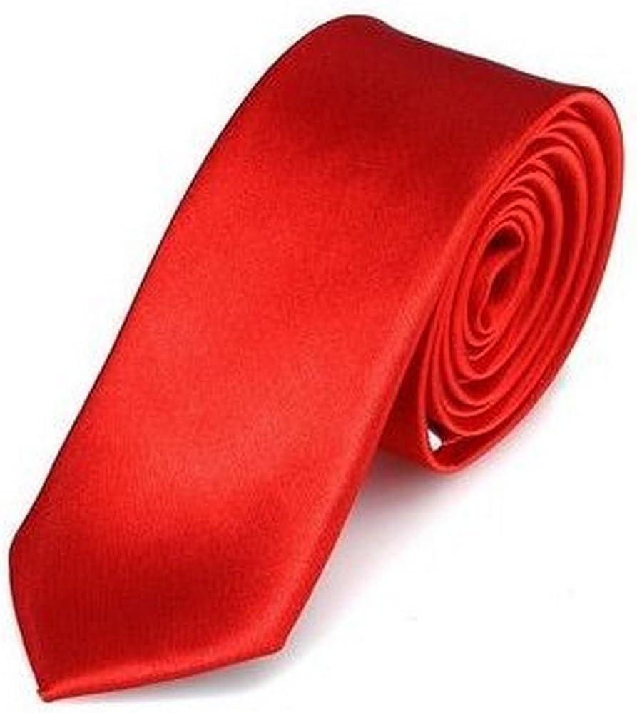 OM3 - Corbata - para hombre rojo rojo talla única: Amazon.es: Ropa ...