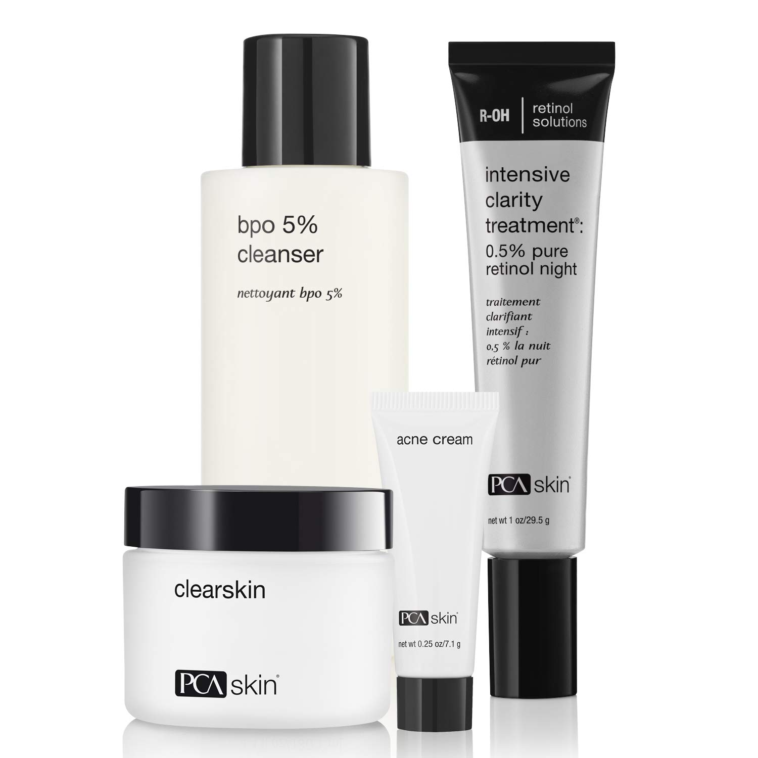 PCA SKIN The Acne Control Regimen - Four Step Routine for Clear Skin (Includes Cleanser, Moisturizer, Acne Cream and Retinol Treatment)