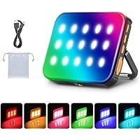 Neewer Outdoor Waterdichte RGB LED Camping Lantaarn Licht, Oplaadbaar 3000mAh Noodlicht Nachtlampje Dimbaar 3200K-6500K…