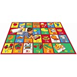 MYBECCA's Nursery Kids Rug ABC FRUIT AND FOOD Area Rug 5 ft X 7 ft (Approx.)