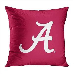 Suike White Alabama A Romantic Hidden Zipper Home Sofa Decorative Throw Pillow Cover Cushion Case Square 18x18 Inch Two Sides Design Printed Pillowcase